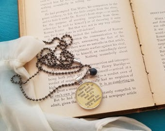 Book Nook, Book Quote Necklace, Quote Necklace, J.R.R. Tolkien Necklace, Good in this World Quote, Literature Necklace, MarjorieMae