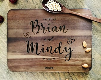 Personalized Cutting Board Personalized Custom Cutting Board Wedding Gift Cutting Board Engraved Cutting Board Anniversary Cutting Board #04