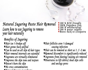 Sugaring paste natural hair removal - thicker hair, Body Sugaring, sugaring wax, sugar paste, sugar hair removal, natural sugaring 2 oz