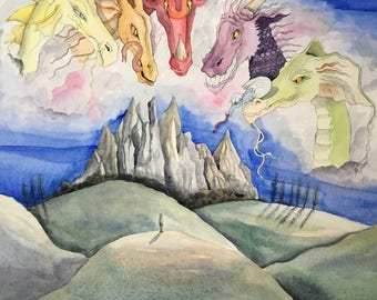The Company Of Dragons - Story Book Children's Dragon Picture Book Rhyming bedtime stories