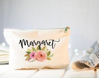 Bridesmaid Makeup Bag, Make Up Bag, Bridesmaids Gifts, Monogram Cosmetic Bag, Bridesmaid Proposal Gift, Will You Be My Bridesmaid Bag