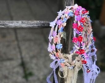 Summer hair wreaths Romantic hair wreath Colorful varieties Boho wreath Gentle hair wreath  Wedding hair accessories Hair jewellery