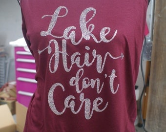 Lake Hair don't Care Tank- Made to Order