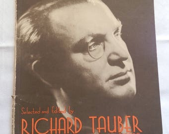 Concert Edition of SCHUBERT SONGS Sheet Music Book c1930 Selected by Richard Tauber