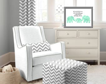 Elephant Nursery Decor Elephant Nursery Art Elephant Decor - Printable File Only