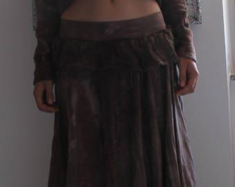 "Sweater ""KALIPSO"" - organic fleece - hemp and cotton - hand dyed - ecofriendly - s/m"