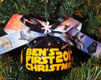 Star Wars Inspired Personalized Christmas Ornament