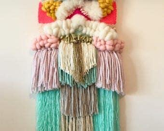 Medium Weave.  Size 30x70 cm. Wall hanging. Woven wall hanging. Children decor. Nursery decor. Living room. Weave. newborn gift