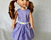 14.5 inch doll dress - 14.5 inch doll clothes - fits Wellie wisher, Hearts for Hearts and other 14.5 inch dolls