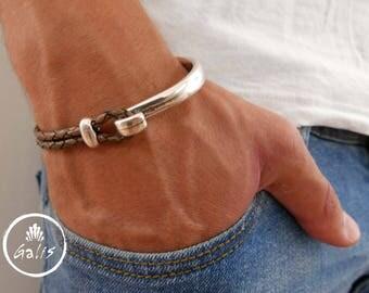 Men's Bracelet - Men's Leather Bracelet - Men's Cuff Bracelet - Men's Jewelry - Men's Gift - Boyfriend Gift - Husband Gift - Present For Men