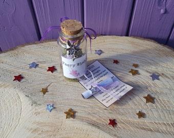Faery Wish Bottle, Fairy Charm, Miniature Jar, Fae Altar Offering, Good Fortune, Magical Scroll, Mini Amulet, Mystical Decoration, Mythical