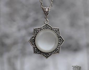 "Necklace "" Reborn "" - White - Spiritual , hindu , fantastic"