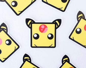 Ampharos Sticker Pokemon Video Game Cartoon Anime Electric Sheep Stickers Stationery One of a Kind Yellow Electricity Type Mareep Flaffy
