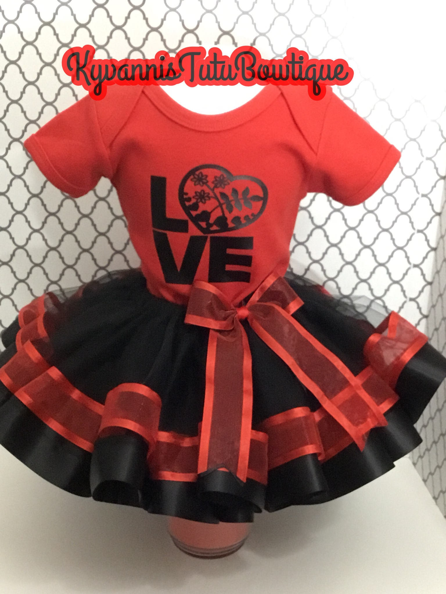 6 Months Red And Black Tutu Outfit Baby Toddler Gorgeous Photo Shoot Outfits