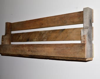 Wood wall shelf etsy for Bathroom knick knacks