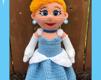 Cinderella Amigurumi (PDF pattern only, this is not the finished doll)