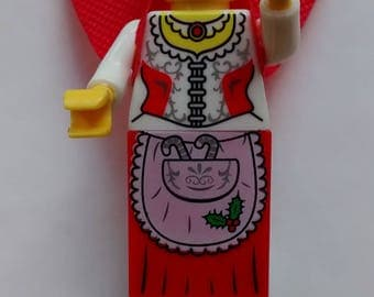 Figurine made from pieces of LEGO Christmas mother