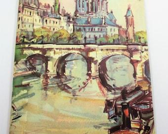Arriving In Paris by French Line Co -  Fantastic Mid Century Graphics - 1961 - MCM Paris - 1960's Paris Travel Guide