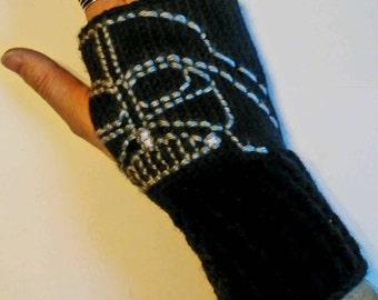 Star Wars Darth Vader Fingerless Gloves Wrist Warmers