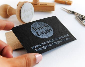 Business card stamp Etsy