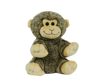 Recordable MONKEY w/ 20 sec. digital recorder, recordable teddy bear, talking teddy bear, recordable stuffed animal, personalized teddy bear