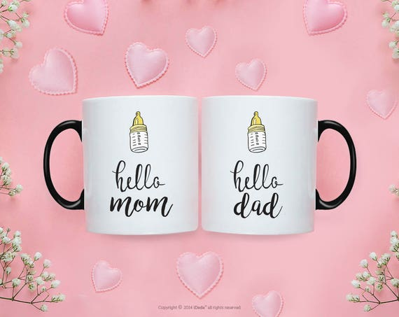Pregnancy announcement gift, Pregnancy Announcement Mugs, New Mom mugs, New Dada Mug Pregnancy reveal gift, Pregnancy announcement mug 218O