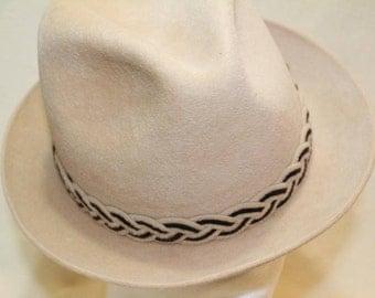 Vintage Beige Dobbs Golden Coach Fur Felt Fedora Trilby Men's Hat Size 7