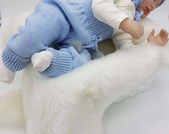 Babies/ knitted wool Pants/leggings/toddlers/wool leggings//blue/warm/thick/chunky/trousers