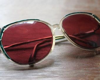 Vintage DVF Diane Von Furstenberg Teal 70s/80s Frames Retro Eyeglasses Sunglasses Eyewear