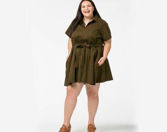 Cotton Safari Dress in mini length
