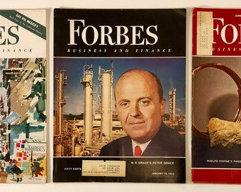 Forbes Business and Finance Magazines Vintage Lot of 3 December 15, 1961, January 15, 1962, June 1, 1962 - some great old Ads and stories
