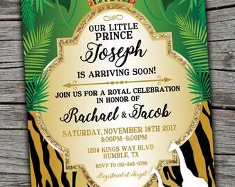 Prince Baby Shower Invitation/ Royal Celebration Invitation/ Royal Baby Shower/ Boy Baby Shower Invitation/ Prince Invite/ Prince babyshower