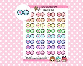 Kawaii Eye Contact | Perfect for any planner (063C)
