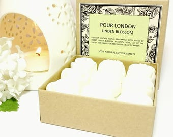NEW! Linden Blossom Scented Soy Wax Melts x 9