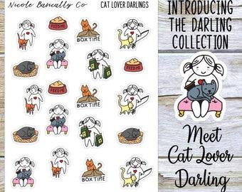 Cat Lover Darlings Planner Stickers