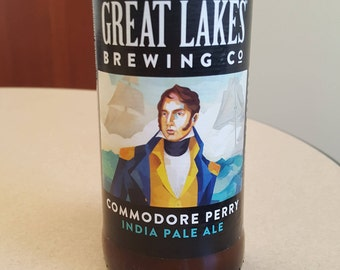 Great Lakes Commodore Perry IPA - Beer Bottle Candle