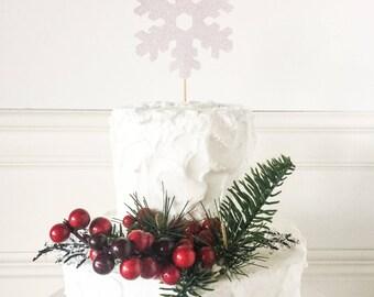 Snowflake Cake Topper • Christmas Cake Topper • Winter Party Decor • Holiday Party Decor • Christmas Decor • Winter Shower Cake Topper
