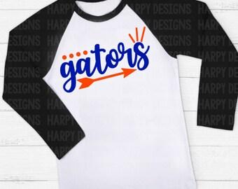 Gators SVG, Football SVG, Football T-shirt Design, Cricut Cut Files, Silhouette Cut Files