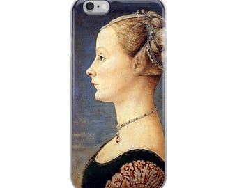 Renaissance iPhone Case portrait of woman fine art painting Florence Italy