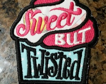 Twisted Cupcake iron on patch