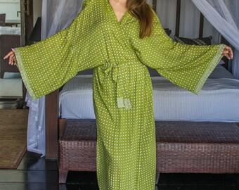 Suki Wrap Kimono, Cover-Up, Loungewear, Yukata, Robe, 125-128
