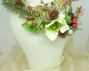 Festive Wreath Flower Crown