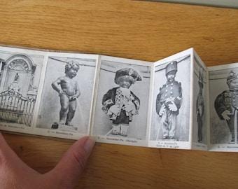 Manneken - Pis Dressed for Ceremonies folding postcard / Souvenir of Brussels / Dohmen Brussels
