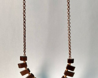 Hematite and Copper Necklace