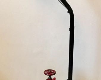 Unique Floor Standing Lamp Pillar Drill Industrial- Steam Punk