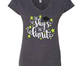 The Sky's the Limit Glitter Back to School Rocker Shirt | Teacher Shirt|Counselor Shirt