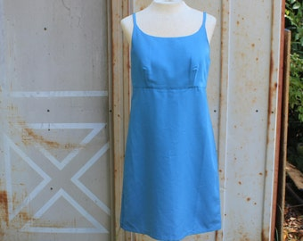 Cielo Dress | 90's Sky Blue Mini Dress - S