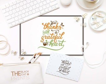 Give Thanks svg Cuttable file Cricut svg design Thanksgiving svg for cut Fall svg Sayings cutting file Iron on file T-shirt design Heart DXF