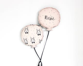 Personalized bunny balloon