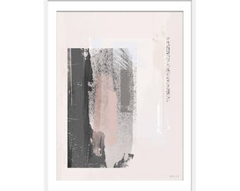 Abstract Art. Abstract Print. Abstract Art Prints. Blush Pink Art. Minimal Grey Art. Scandinavian Style Interiors